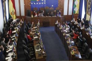 bolivia senate oks election, bars ex-president