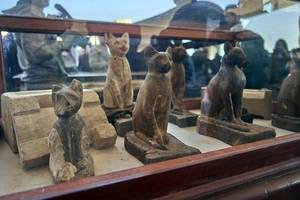 egypt unveils 'one of a kind' discovery of hundreds of statues and mummified animals