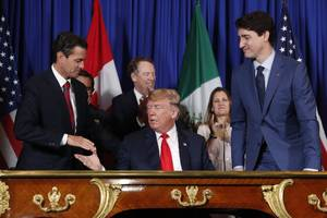 Trump says Mexico and Canada could back out of his signature NAFTA replacement deal