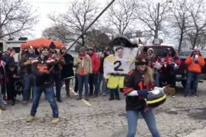 browns fans labelled 'trash' after hitting mason rudolph pinata with helmet at tailgate