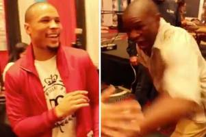 floyd mayweather sr scares chris eubank jr with incredible speed punches