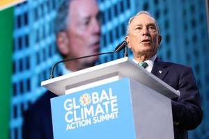 bloomberg, now democratic candidate, resigns un climate post