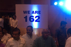 mumbai: sena-ncp-cong to 'parade' 162 mlas in mumbai hotel