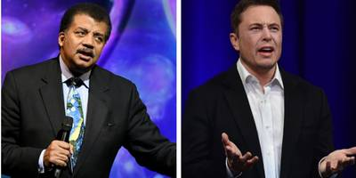 neil degrasse tyson called out elon musk on twitter over the physics of the tesla cybertruck versus ford f-150 video (tsla, f)