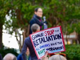 google fires four employees for 'clear and repeated violations' of its data security policies, apparently including one whose suspension inspired a protest at a google office (goog, googl)