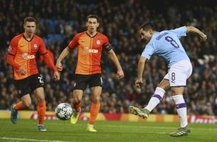 man city held 1-1 by shakhtar, advances in champions league