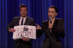 watch daisy ridley rap her way through all 8 'star wars' movies in less than 3 minutes (video)