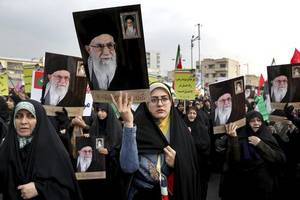 iran supreme leader claims protests a us-backed 'conspiracy'