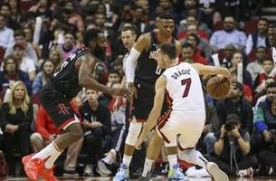 heat can't slow down rockets' dynamic duo, fall 117-108