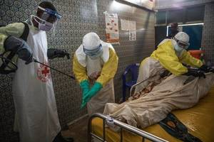 ebola health workers killed and injured by rebel attack in congo
