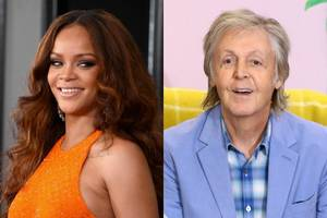 watch rihanna and paul mccartney's 'how are you on my flight?' midair reunion (video)