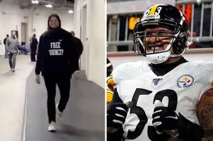 Steelers players leave NFL fans furious with 'free Pouncey' hoodies ahead of Browns contest