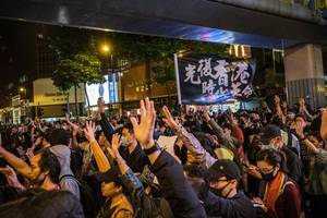 """""""still angry"""": hong kong protesters return to the streets"""