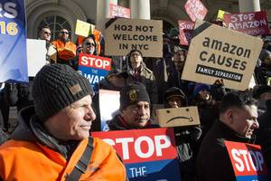 Amazon employees will protest outside of Jeff Bezos' $80 million New York City penthouse on Cyber Monday (AMZN)