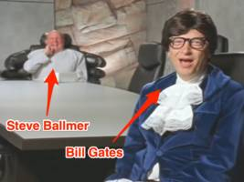 bill gates and steve ballmer once made an 'austin powers' parody video, and it's just as bizarre as you'd imagine (msft)