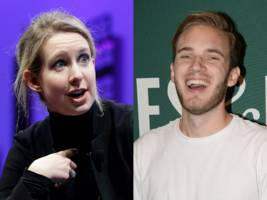 pewdiepie and elizabeth holmes were both name-dropped as 'random bad people' in a recent episode of nbc's 'the good place' — watch the clip