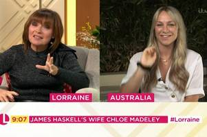 james haskell's wife defends i'm a celebrity star's temper amid 'bullying' claims