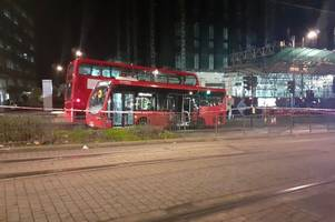 east croydon bus crash: man fighting for his life after being hit by bus