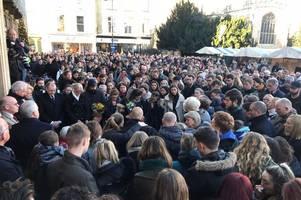 Photos show hundreds gathering at Cambridge vigil to remember London Bridge terror victims Jack Merritt and Saskia Jones