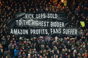 Crystal Palace fans protest Amazon Prime Video over kick-offs and PL profits