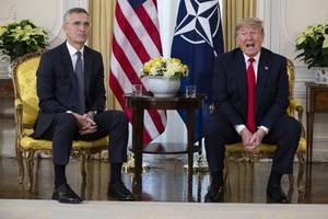'as always, paid by the us': nato chief sums up bloc's history in joke about breakfast with trump