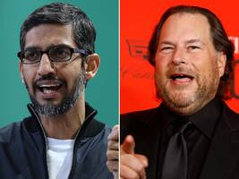 Salesforce billionaire Marc Benioff suggested Google cofounders Larry Page and Sergey Brin should run for president in 2020
