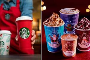 New report shows the staggering amount of sugar contained in Christmas hot drinks
