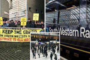 south western railway strike: rmt call for fresh talks over guard row
