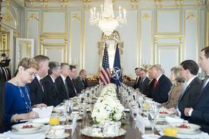 nato unity on the line as feuding leaders meet