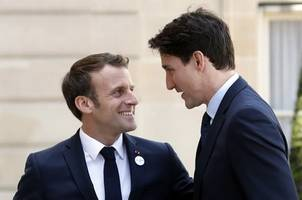 trudeau, macron and johnson caught on camera making fun of trump