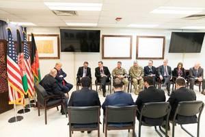us's afghan peace envoy makes surprise stop in kabul