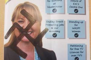 east kilbride parliamentary candidate has leaflets covered in nazi symbols
