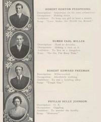 Senior quotes from a 1911 high school yearbook