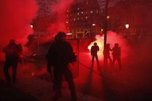 france: police and protesters clash in massive strike over macron's pension reform