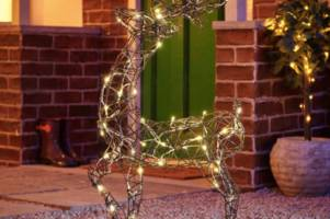huge half price sale at wilko includes a large light-up rattan reindeer for only £30