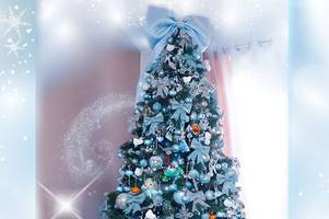 A woman who loves Disney with a passion has made this amazing Cinderella Christmas tree