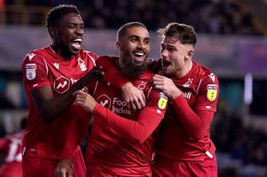 'he just scores goals' - lewis grabban silences millwall boo boys - nottingham forest player ratings