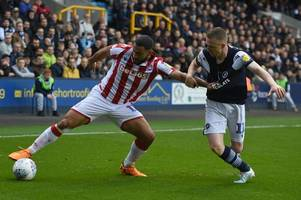 thumbs up - boss seems to give stoke city man the seal of approval heading to hull city