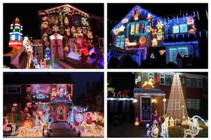 where you can see christmas lights on houses in surrey and hampshire this festive season