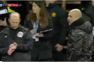 Man City boss Pep Guardiola left fuming with Mike Dean after Man Utd VAR decision