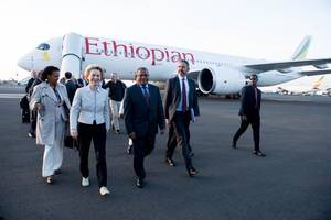new european leader chooses africa as 1st overseas visit
