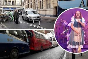 it's behind you: cinderella panto causes traffic 'chaos' in cheltenham town centre