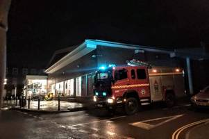 Road closed after Sainsbury's roof 'blown off' in strong Storm Atiyah winds