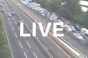 m5 traffic live: delays due to police incident between weston-super-mare and clevedon