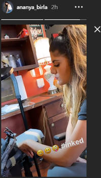Ananya Birla gets another tattoo, see her Instagram post here