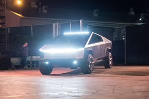 Elon Musk is driving Tesla's Cybertruck prototype around Los Angeles