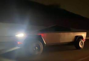 Elon Musk Spotted Driving The Tesla Cybertruck Down The 405 in LA