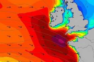 met office say freezing temperatures, gales, heavy rain and huge waves on the way after storm atiyah