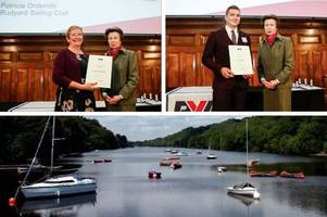 leek sailors presented with national awards by princess anne