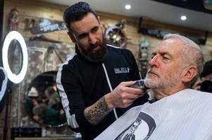 jeremy corbyn had his beard trimmed in a carmarthen barber shop
